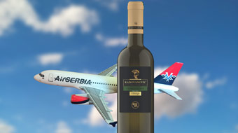 Air Serbia and Radovanović celebrate 'WINES ON THE WING' award for white wine